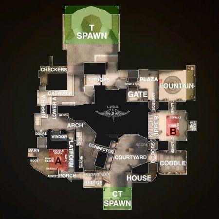 Название мест на карте crown на английском