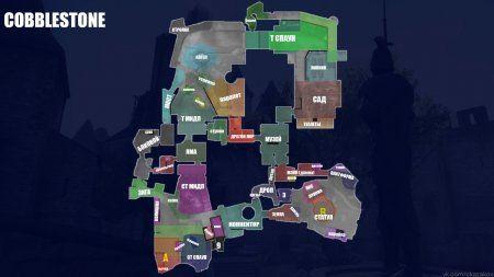Название мест на карте cobblestone на русском