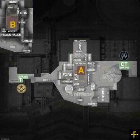 Название мест на карте nuke на английском