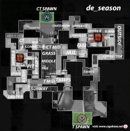 Название мест на карте season на английском